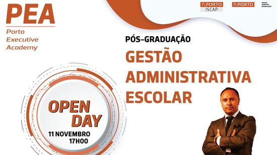 OPEN DAY - Pós-Graduação em Gestão Administrativa Escolar